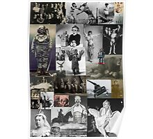 Retro Weird Historic Photo Collage Poster