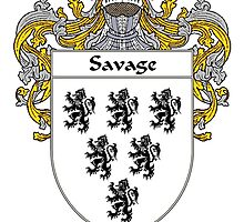 Savage Coat of Arms / Savage Family Crest by William Martin