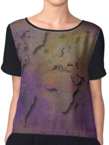 World map special 3 Chiffon Top