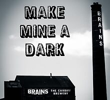 Brains Dark Art by Jimardee