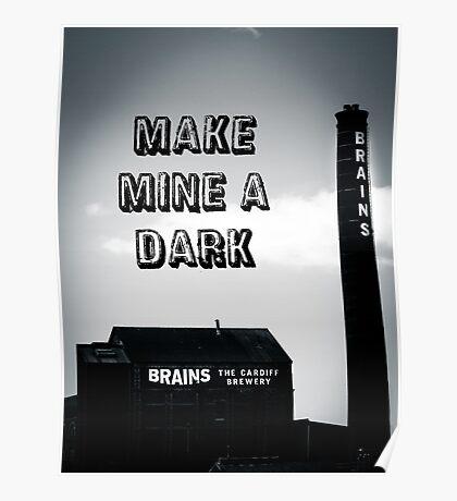 Brains Dark Art Poster