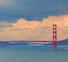 View of Golden Gate Bridge from Lands End Sticker