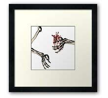deaths walm embrace Framed Print