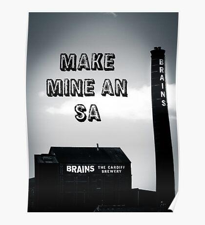 Brains SA Art Poster