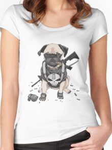 Pug Punisher Army Women's Fitted Scoop T-Shirt