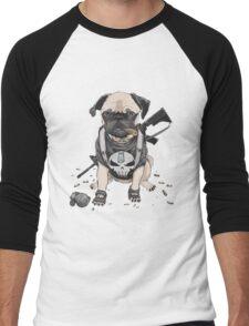 Pug Punisher Army Men's Baseball ¾ T-Shirt