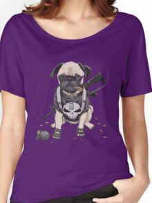 Pug Punisher Army Women's Relaxed Fit T-Shirt