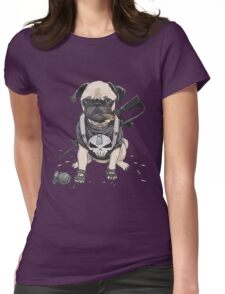 Pug Punisher Army Womens Fitted T-Shirt