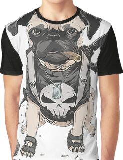 Pug Punisher Army Graphic T-Shirt