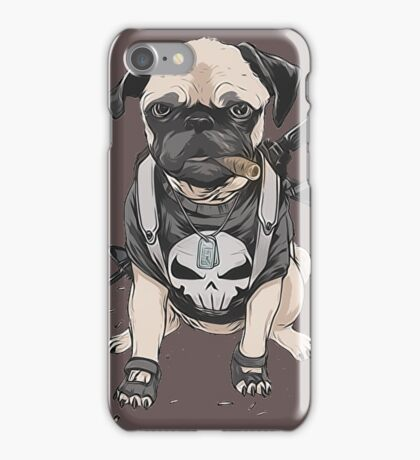Pug Punisher Army iPhone Case/Skin