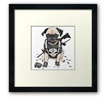 Pug Punisher Army Framed Print