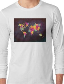 world map Long Sleeve T-Shirt