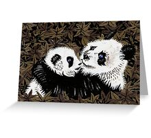 Mother and Cub in Gold Greeting Card