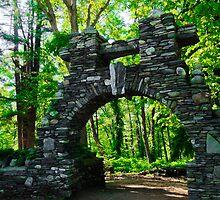 Stone Archway at Gillete Castle by Bluejayarts