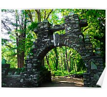Stone Archway at Gillete Castle Poster