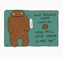 Sad Golems Need Cookies by fishcakes