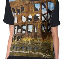 Peter Iredale Shipwreck - Oregon Coast Chiffon Top