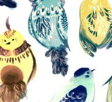 Plant Birds Sticker