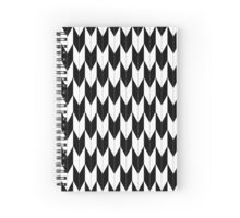 Black and white Arrows (Yabane) Spiral Notebook