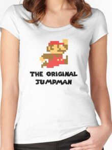 Mario - The Original Jumpman Women's Fitted Scoop T-Shirt