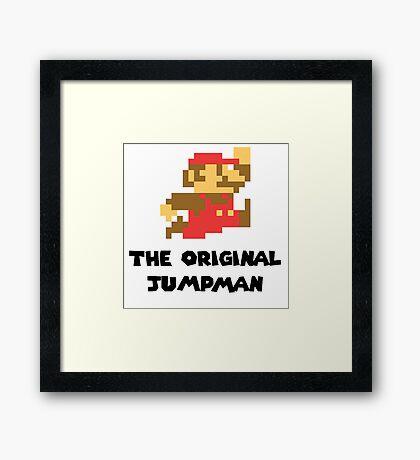 Mario - The Original Jumpman Framed Print
