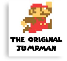 Mario - The Original Jumpman Canvas Print