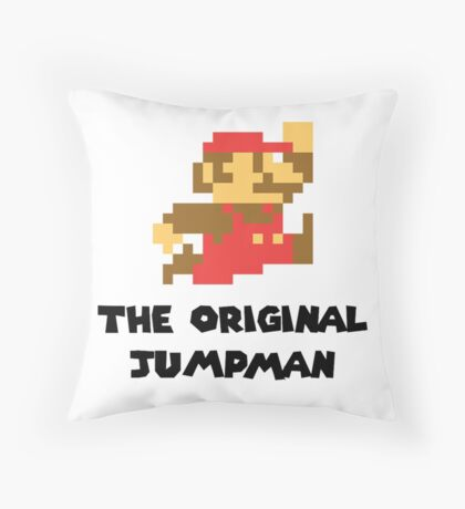 Mario - The Original Jumpman Throw Pillow
