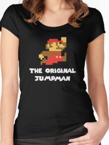 Super Mario - The Original Jumpman Women's Fitted Scoop T-Shirt