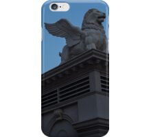 Shadow and Light - Las Vegas Sunrise with a Winged Lion at Caesars Palace iPhone Case/Skin