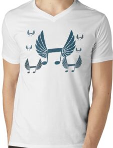 Flock Of Music Notes Mens V-Neck T-Shirt