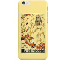 London Underground - Vintage Poster - Lure of the Tube iPhone Case/Skin