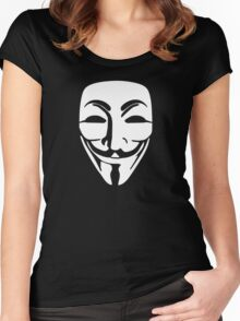 the Anonymous Mask Women's Fitted Scoop T-Shirt