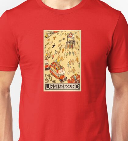 London Underground - Vintage Poster - Lure of the Tube Unisex T-Shirt