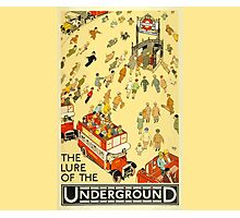 London Underground - Vintage Poster - Lure of the Tube Photographic Print