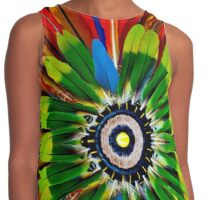 Colourful feathers Contrast Tank