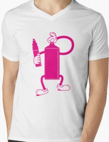 Mr Spray Can Mens V-Neck T-Shirt