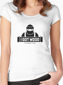 I Got Wood Timberyard Women's Fitted Scoop T-Shirt