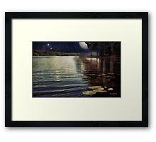 Moonlight Ripples Framed Print