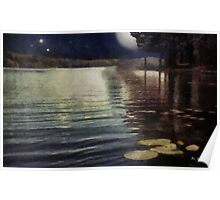 Moonlight Ripples Poster