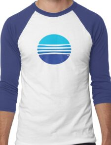 Lovely Blue Circle T-Shirt Men's Baseball ¾ T-Shirt