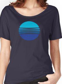 Lovely Blue Circle T-Shirt Women's Relaxed Fit T-Shirt