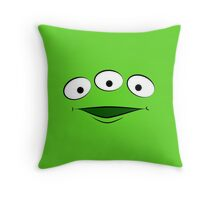 Toy Story Alien - Smile Throw Pillow
