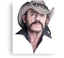 Poly Portrait Lemmy Metal Print
