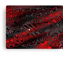 Swirls and Spots - Red Canvas Print