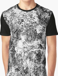 Splatter Crackle Texture Black and White Design Graphic T-Shirt