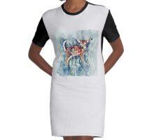 Little Doe Graphic T-Shirt Dress