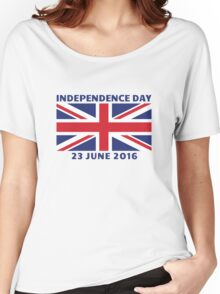 UK Independence Day, 23 June 2016, Brexit Women's Relaxed Fit T-Shirt