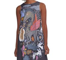 Dragon A-Line Dress