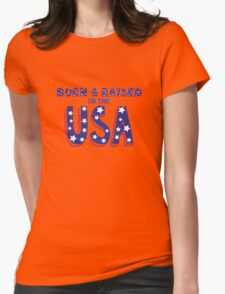 Born and Raised in the USA Womens Fitted T-Shirt