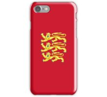Royal Arms of England - Three Lions - British Flag Football T-Shirt iPhone Case/Skin